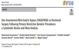 One Anastomosis/Mini-Gastric Bypass (OAGB/MGB) as Revisional Surgery Following Primary Restrictive Bariatric Procedures: a Systematic Review and Meta-Analysis